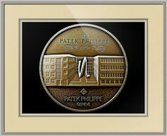 """Patek Philippe Geneve Commemorative Medal Coin (Front) // Paper: enhanced matte; Glazing: acrylic; Moulding: silver, arqadia beaded silver; Top Mat: tan, thatch; Middle Mat: brown, pewter; Bottom Mat: tan, thatch // Price starts at $125 (Petite: 19"""" x 21""""). // Customize at http://www.imagekind.com/Patek-Philippe-Geneve-PPG_art?IMID=5cad76ca-2632-4430-9e1b-71f73e27c714"""