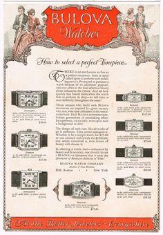 1920s era Bulova advertisement ‹ Strickland Vintage Watches