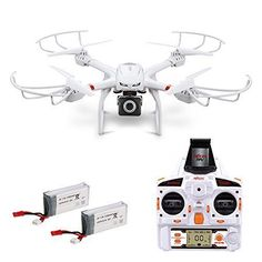 Wifi Camera Quadcopter-X101 FPV Drone 720P HD Wide-Angle Camera Live Video with Headless Mode, 2.4GHz 4 Chanel 6 Axis Gyro RTF RC Drone, Compatible with VR Headset and Additional Spare Parts for only $75.59! That's 40% off the regular price.