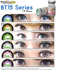 The Dolly Eye color lenses - Series coloured circle lenses come with . - The Dolly Eye color lenses – Series coloured circle lenses come with an outer ring tha - Colored Eye Contact Lenses, Cosmetic Contact Lenses, Colored Eye Contacts, Circle Lenses, Color Lenses, Human Eye, Color Shades, Colour Images, African Art