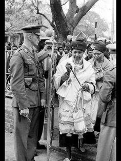 Mama Winnie Mandela in Traditional Xhosa umbhaco at some point it was a crime in…