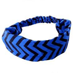 Faixa para Cabelo Zig Zag Azul - comprar online