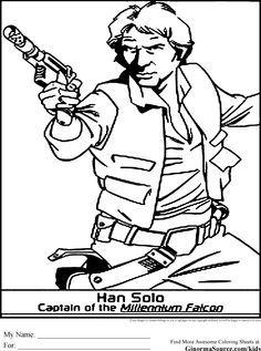 Coloriage star wars luke skywalker medite star wars for Han solo coloring pages