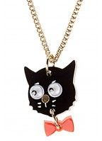 Cat and Bow Necklace