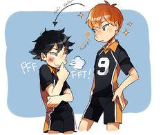 Haikyuu!! ~~ Hair color swap :: Kageyama and Hinata