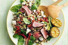 This vibrant lamb and quinoa salad packs a punch of flavour. Lamb Recipes, Diet Recipes, Healthy Recipes, Healthy Breakfasts, Healthy Meals, Healthy Food, Quinoa Salad Recipes, Beach Day Food, Health