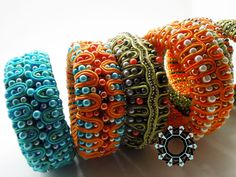 3D Soutache bracelets by Tender December Alina Tyro-Niezgoda
