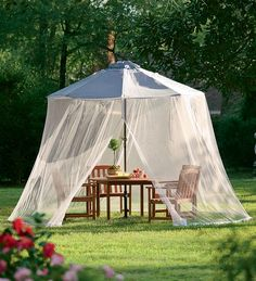Plow Umbrella Mosquito Net Porch & Patio Curtains from Plow & Hearth on Catalog Spree Outdoor Curtains, Canopy Outdoor, Canopy Tent, Canopy Curtains, Door Canopy, Outdoor Forts, Outdoor Shelters, Beach Canopy, Outdoor Blinds