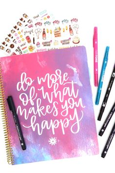 How to create a Word of the Year spread in your planner! Follow this easy tutorial by @popfizzpaer featuring @tombowusa and @bloomdailyplanners. #pfplovestombow #tombow2019dt #tombowpro Tombow Usa, Planner Stickers, Are You Happy, Daily Planners, Art Walls, Bloom, Diy Projects, Bullet Journal, Diy Crafts