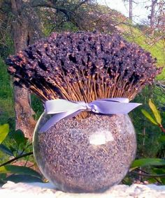 Need to gather enough lavender from Peggy's garden to make a room freshener like this!  Amazing....