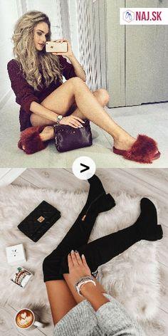 naj.sk, kabelka, čierna kabelka, bordové papuče, červené papuče, papuče, papuče s kožušinou, kožušinové papuče, obuv na doma, crossbody kabelka, capuccino, latte, cafe, náramky, sveter, sivý sveter, pulover, čižmy nad koleno, čierne čižmy High Socks, Latte, Tommy Hilfiger, Fashion, Moda, Thigh High Socks, Fashion Styles, Stockings, Fashion Illustrations