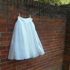 Easy ballet skirt tutorial - a skirt made out of curtains