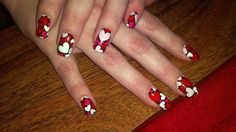 hearts by fingerjewels from Nail Art Gallery Heart Nail Art, Heart Nails, Valentine Nail Art, Valentines Day, Nail Art Galleries, Nails Magazine, Red Nails, Nail Designs, Art Gallery