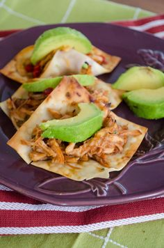 Baked Wonton Tacos!  These look delicious!  I've always loved every wonton taco I've ever had but I've never made them.