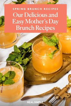 Mother's Day Luncheon | This Mother's Day, prepare your Mom a beautiful homemade lunch spread with one or a few of these spring brunch recipes. These classic brunch recipes are simple to make and prep ahead the night before. #mothersdayrecipes #realsimple #mothersdayideas #giftideas Grapefruit Salad, Green Veggies, Mothers Day Brunch, In Season Produce, Brunch Recipes, Lunch, Homemade, Mom, Night