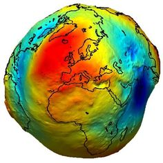 Geoid - The Earth's actual shape. Atomic clock now accurate enough to accurately measure Earths true shape.. the Geoid.