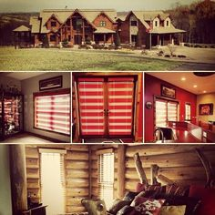 Beautiful log cabin installation by Budget Blinds