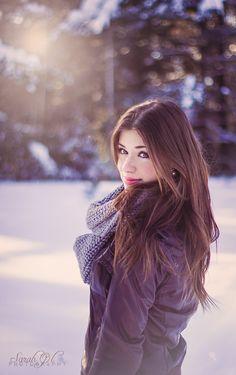 sun winter portrait photography beautiful hair