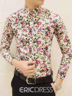 31c7cda544 Colorful spring and summer fashion brand mens clothes printed shirt · Mens  Floral Dress ShirtsFloral ...