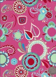 """Main Dark Pink  """"Flower Child"""" designed by Rosalie Dekker. (Quinlan)"""