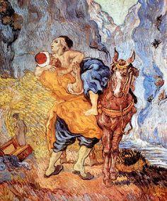 Vincent Van Gogh - Post Impressionism - Saint REMY - Le Bon Samaritain - 1990