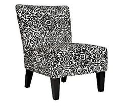 angelo:HOME Davis Chair - Black & White Damask contemporary chairs Contemporary Living Room Furniture, Contemporary Chairs, Colorful Furniture, Modern Furniture, Armless Accent Chair, White Accent Chair, U Shaped Sectional Sofa, Leather Chaise Lounge Chair, Slipper Chairs