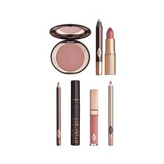 CHARLOTTE TILBURY The Ingénue Look gift box ($220) ❤ liked on Polyvore featuring beauty products, gift sets & kits, travel bag, dop kit, wash bag, cosmetic bag and toiletry bag