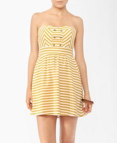 Striped Sweetheart Tube Dress - FOREVER21 - Not sure about the color but SUPERCUTE!