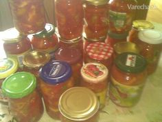 Lečo na surovo (fotorecept) - Recept Mason Jars, Mason Jar, Glass Jars, Jars