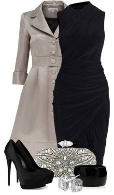 Black draped cocktail dress