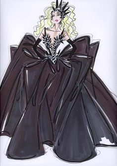 Giorgio Armani's Sketch Of Lady Gaga's VMA Outfit