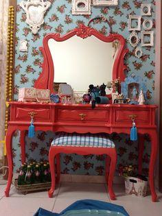 Click Interiores | ateliando Penteadeira Chiclete – Pimenta Rosa Ateliando Antiguidades (2)