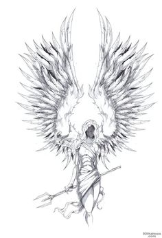 Angel wings drawing 157934 archangel tattoo design from deviantart Tattoo Sketches, Tattoo Drawings, Body Art Tattoos, Art Sketches, Sleeve Tattoos, Art Drawings, Tattoos Skull, Sketch 2, Tattoo Art