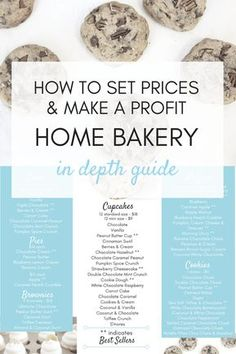 Home Bakery: How to Set Prices & Make a Profit Learn how to make money with a home bakery! How to determine fair prices and calculate your profit! Bakery Business Plan, Baking Business, Cake Business, Food Business Ideas, Catering Business, Business Planner, Catering Menu, Business Logo, Business Tips