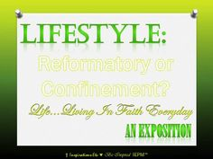 Lifestyle An Exposition_IEPMSTCTSGMinistry 072015