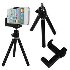 Mini Adjustable Tripod+camera Holder for Iphone and Other Cellphone - - Product Description: Use this smartphone tripod to shoot steady videos and images. This tripod will also allow you to cond Camera Accessories, Cell Phone Accessories, Ipod Touch, Nikon, Wrist Watch Phone, Accessoires Photo, Iphone 3, Camera Tripod, Adjustable Legs