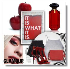Glamour. by marie-detaille on Polyvore featuring polyvore, fashion, style, Glamorous, Giuseppe Zanotti, Michael Kors and Victoria's Secret