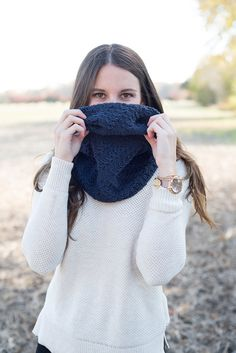Knit hooded scarf, knit cowl, knit circle scarf, knit hood, hooded cowl, snood scarf, knit cowl scarf, chunky knit cowl, navy hooded scarf