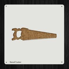 Wood Hand Saw Tool Style 99 , DIY Plastic Stencil Acrylic Mylar Reusable