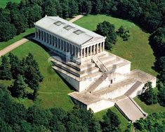 Always meant to hike up but somehow always ended up driving. I guess a reason to go back. walhalla regensburg, #bavaria