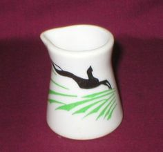 MAYER RESTAURANT WARE CHINA GAZELLE INDIVIDUAL CREAMER #SYRACUSE