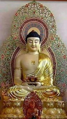 Amitabha Buddha, Statue, Painting, Art, Art Background, Painting Art, Paintings, Kunst, Sculpture