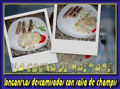 La cocina de Maetiare: Longanizas descamisadas con salsa de champis