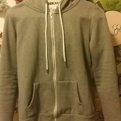 Gray zip up hoodie-Forever 21 Size small. Like new, worn only a few tines Forever 21 Jackets & Coats