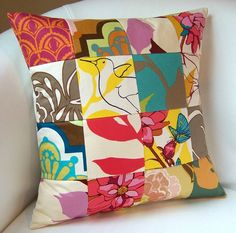 Patchwork Drawing Room Pillow by nestables, Eveli Duarte