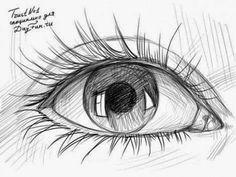 طريقة رسم العين بقلم رصاص للمبتدئين | Dz Fashion
