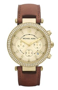 Michael Kors 'Parker' #Chronograph #Leather #Watch, 39mm