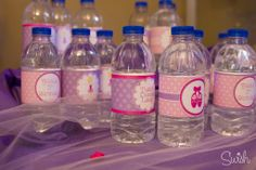 Ballerina Party - custom water bottle labels - swish printables