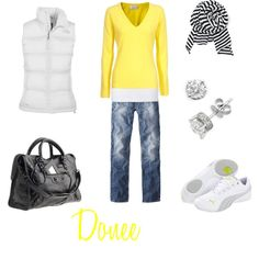 Yellow and Navy - Polyvore