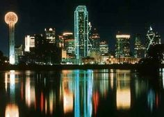 Dallas Skyline / Great nightlife in Deep Ellum... but remember, Texas is a free pour state! Oct. 2002